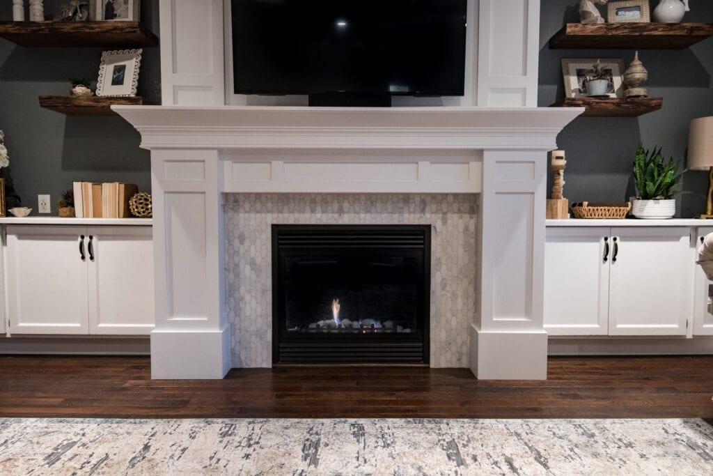newly renovated fireplace