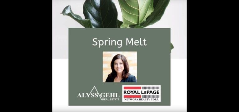 Let's Talk About Spring Melt